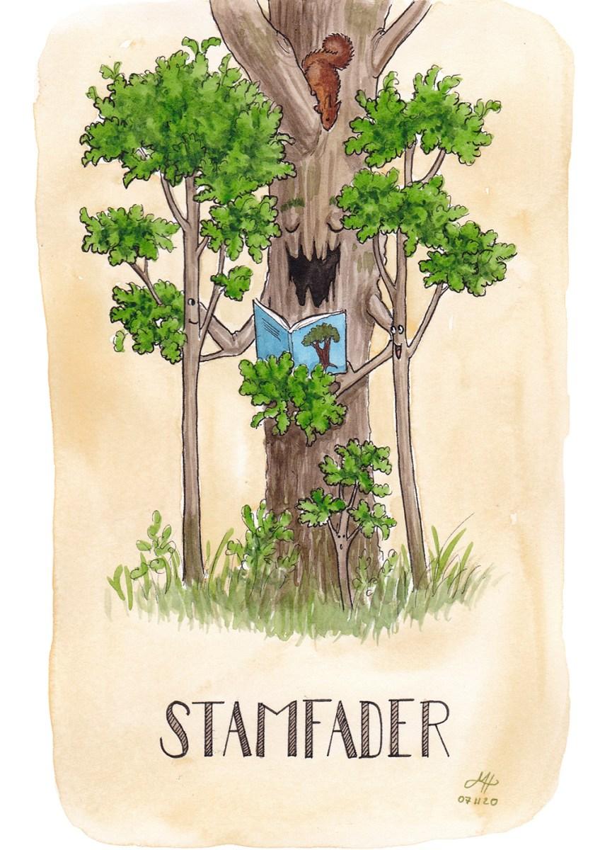 stamfader illustration ordvits