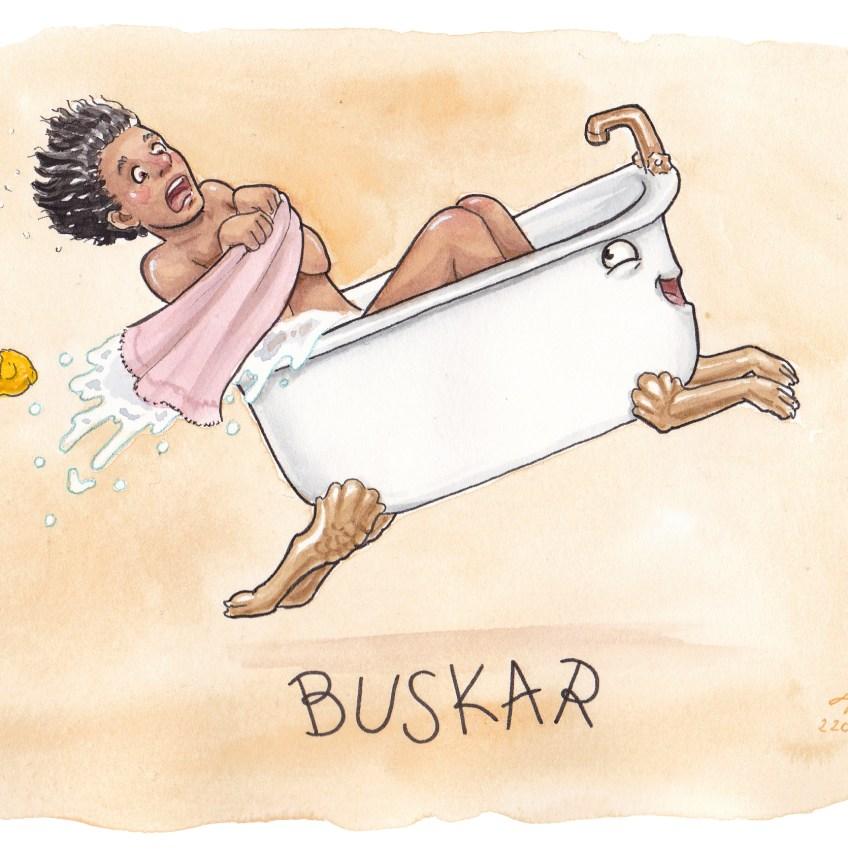 buskar illustration ordvits