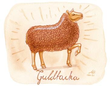 guldtacka illustration ordvits