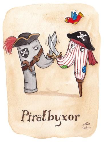 piratbyxor illustration ordvits