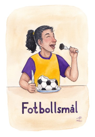 fotboll illustration ordvits