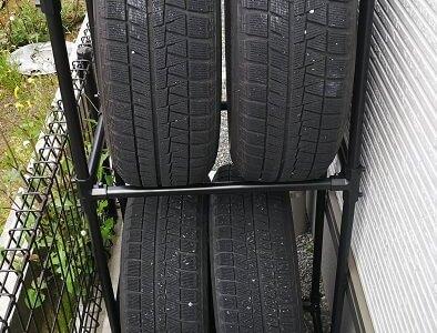 ステップワゴンのタイヤを屋外保管するためにタイヤラックを買う