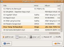 Screenshot-Playlist Editor