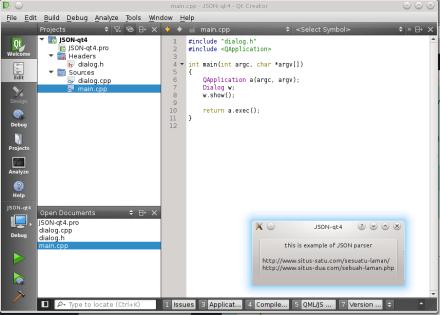 Mengurai (Parsing) JSON Qt4 dengan QJson   Pandalon