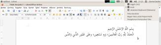 Mengetik Arab di LibreOffice
