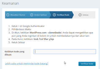 Authenticator Wordpress