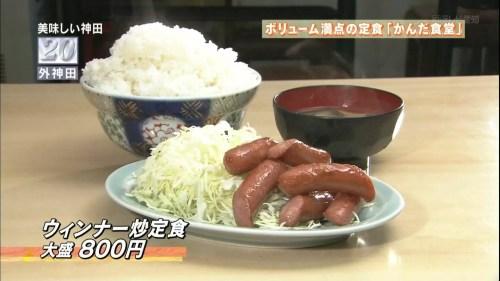 ウィンナー炒め定食