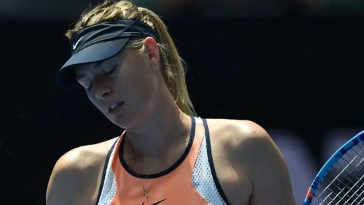 Sharapova acusou positivo num controlo anti-doping