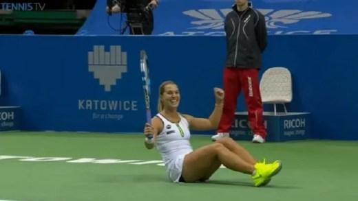 """""""Pome!"""" Cibulkova regressa aos títulos e Giorgi perde 3.ª final seguida em Katowice"""