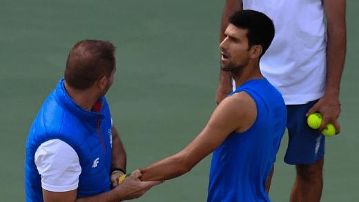 Treinador de Djokovic diz que todos os exames indicavam que o sérvio não jogaria o torneio