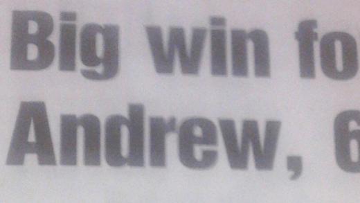 [Foto] Andy Murray já saía nos jornais… aos 6 anos