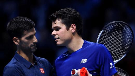 Djokovic derrota Raonic, ganha o Grupo e elimina Gael Monfils