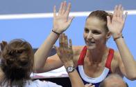 [Com vídeo] Pliskova e Mladenovic: a 12 minutos da história