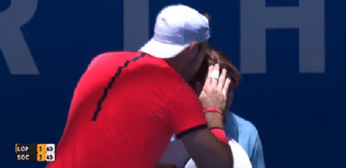 [Vídeo] Jack Sock acarinha e beija… uma juiz de linha em pleno encontro