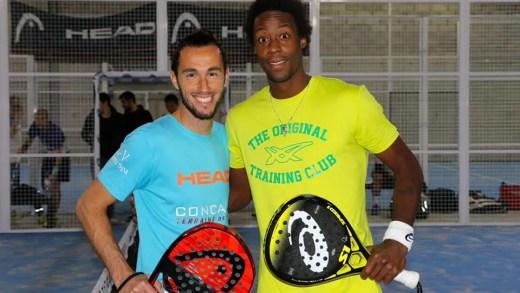 Gael Monfils foi jogar padel em fim de semana da Taça Davis