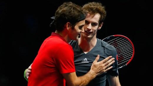 Troca por troca: Andy Murray e Roger Federer combinam exibições em Glasgow e Zurique