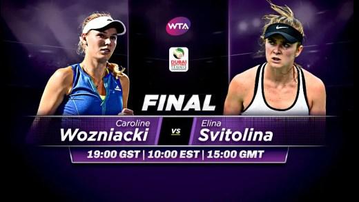 Wozniacki vs. Svitolina: o que está em jogo na interessante final do Dubai