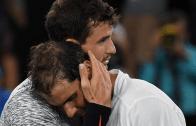 Dimitrov conta o que Nadal lhe disse após a épica meia-final entre ambos em Melbourne