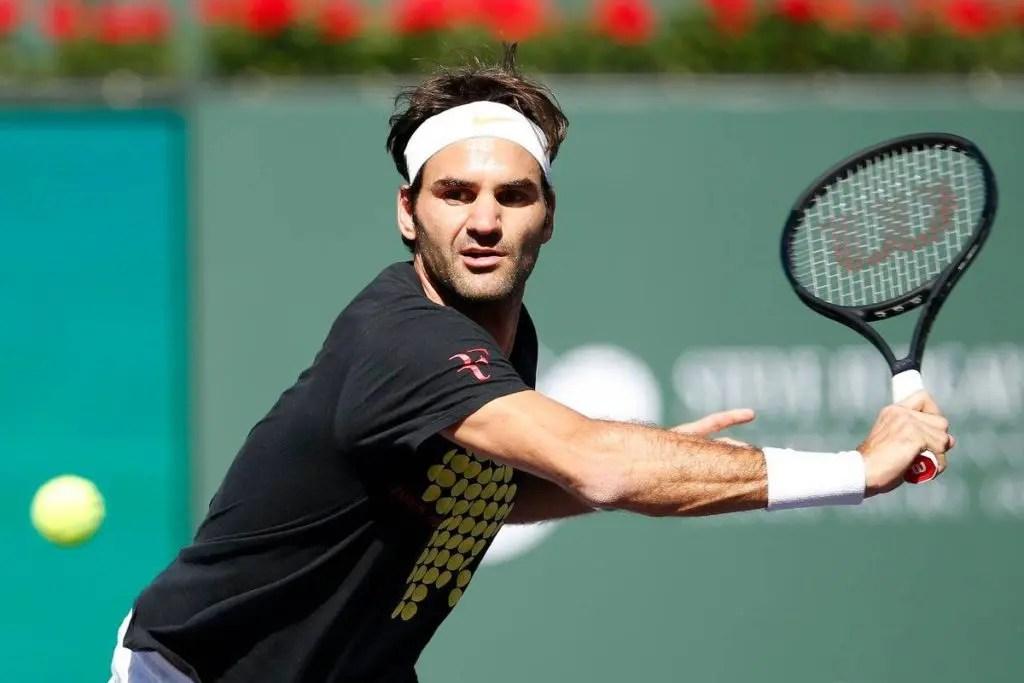 [Fotos e vídeo] Roger Federer já treina em Indian Wells