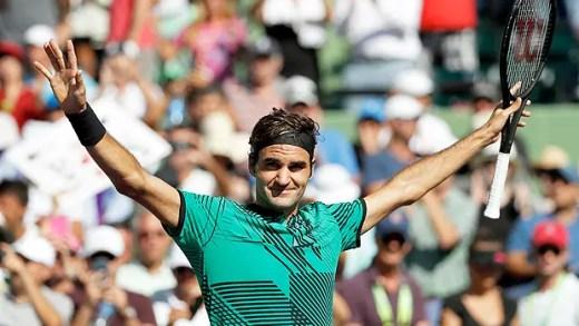 Roger Federer sofre, salva DOIS match points e segue para as meias finais em Miami