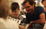 [Vídeo] Federer visitou um hospital de crianças e a reação foi… emocionante!