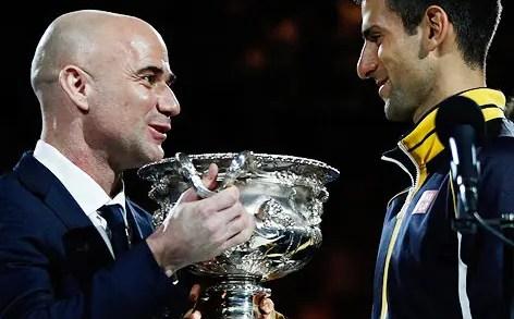 André Agassi pode ser o novo treinador de Novak Djokovic