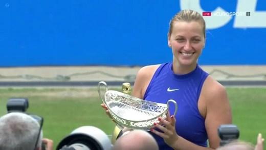 INSPIRADOR. Petra Kvitova campeã logo ao segundo torneio no regresso pós esfaqueamento