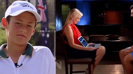 [VÍDEO] Bernard Tomic é confrontado com um vídeo seu com 14 anos, onde dizia que amava o ténis, e emociona-se