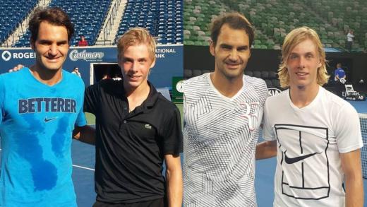 Federer rendido a Shapovalov: «É fantástico e divertido de ver!»