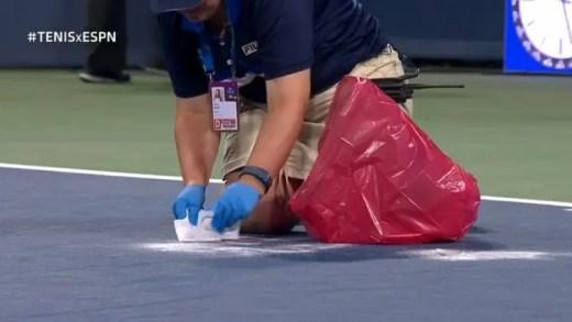 Fognini vomita em pleno court e obriga a interrupção do encontro… para limpezas