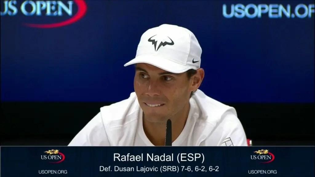 Espanhol Rafael Nadal na segunda ronda — US Open