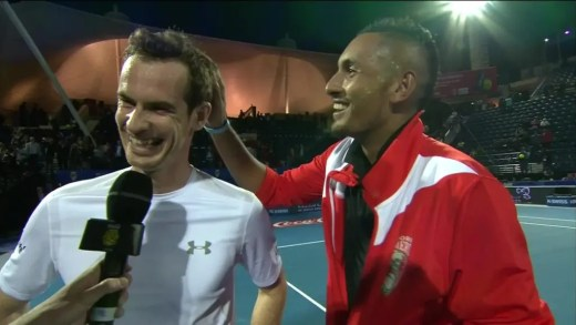 Andy Murray e Nick Kyrgios trocam 'carinhos' no Instagram