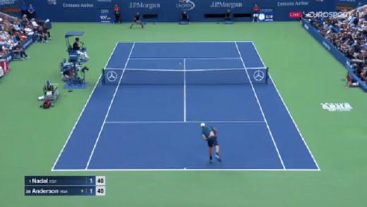 [VÍDEO] BOOM! Anderson ganha o primeiro grande ponto da final do US Open