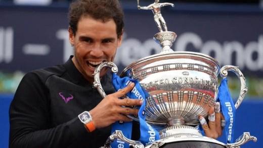 Nadal vai receber troféu do ATP 500 de Barcelona em tamanho real