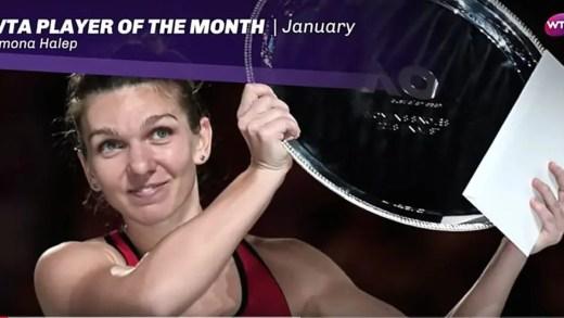 Wozniacki, número um e campeão do Australian Open, não ganhou o 'prémio' de Jogadora de Janeiro