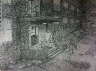 Dorm Life; Ink, Paper