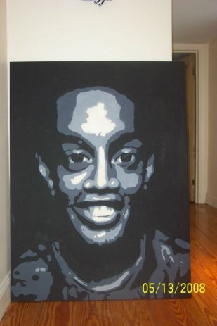 Ronaldinho; Acrylic, Canvas