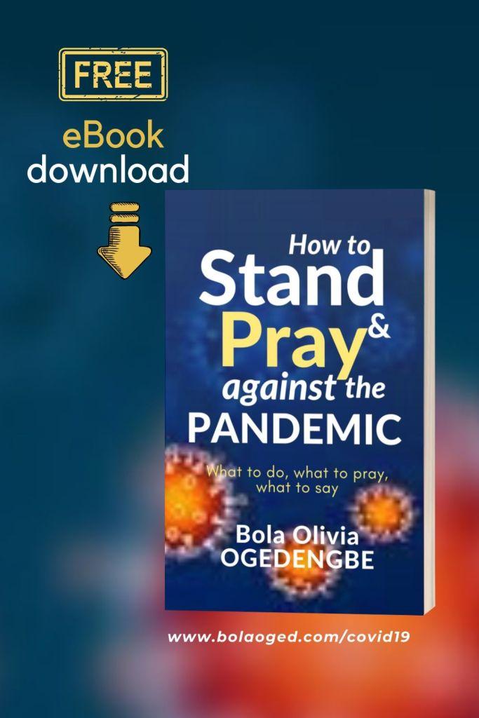 Free book stand pray coronavirus