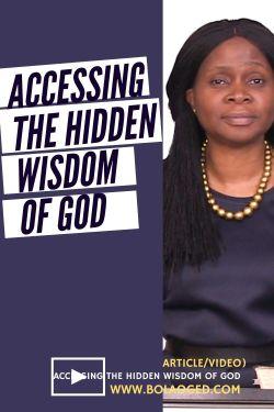 Hidden wisdom of God