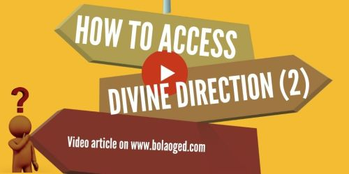 How to access divine direction part 2