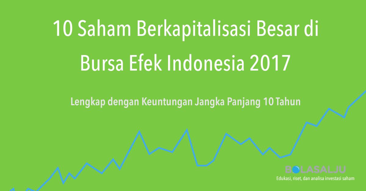 10 Saham Berkapitalisasi Besar di Bursa Efek Indonesia 2017 Lengkap dengan Keuntungan Jangka Panjang