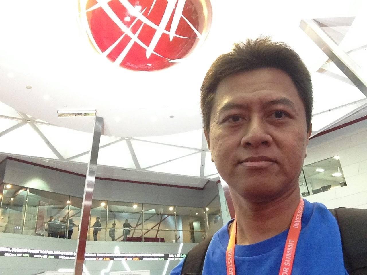Arif Widianto di Gedung Bursa Efek Indonesia