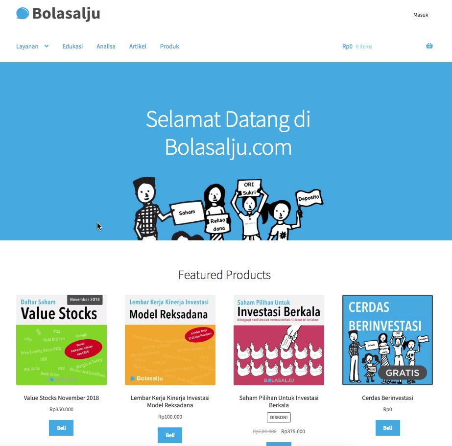 Redesain Bolasalju.com 2018