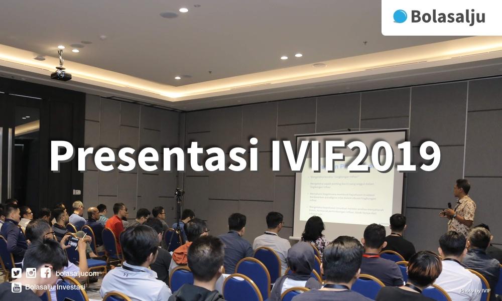 Arif Widianto, presentasi di IVIF2019