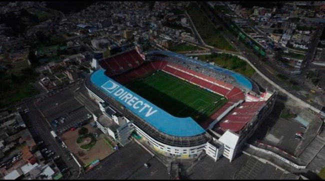 El Estadio de Liga de Quito es el que más capacidad tiene en Ecuador.