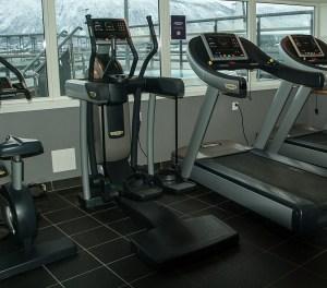 Stationary bike, elliptical machine and a treadmill
