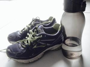 sneakers & water bottle