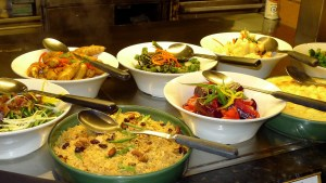 Assorted homemade dishes