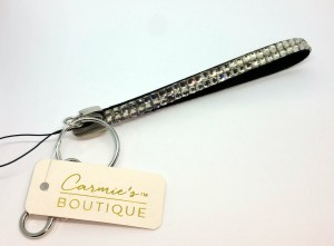 Sample rhinestone adorned strap purchased from a craft store.