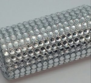 Rhinestone covered handle